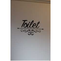 Deur sticker Toilet