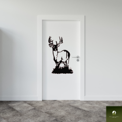 10 Point Buck decoratie deur